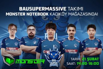 BAUSuperMassive Oyuncuları Monster Mağazasında Hayranlarıyla Buluşuyor